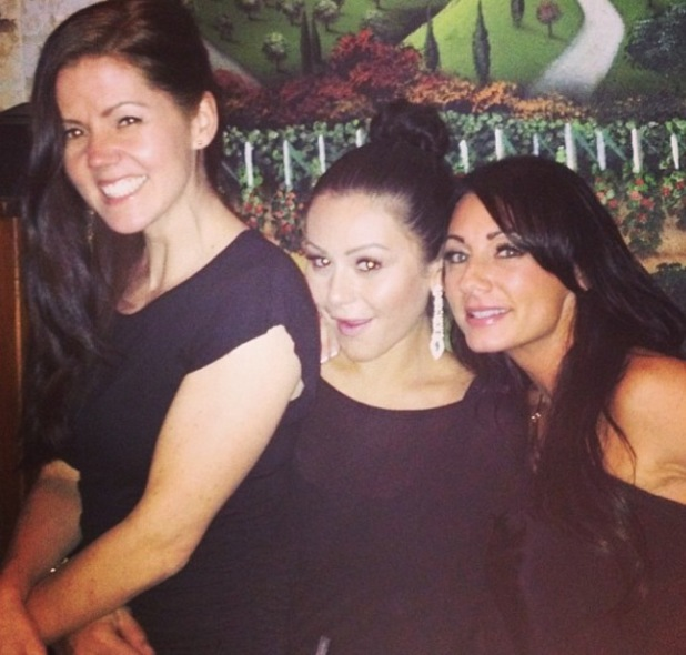 JWoww Farley celebrates the new year with friends at a restaurant - 31/12/2013