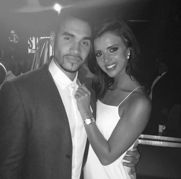 Louis Smith bumps into Lucy Meck, November 2014.