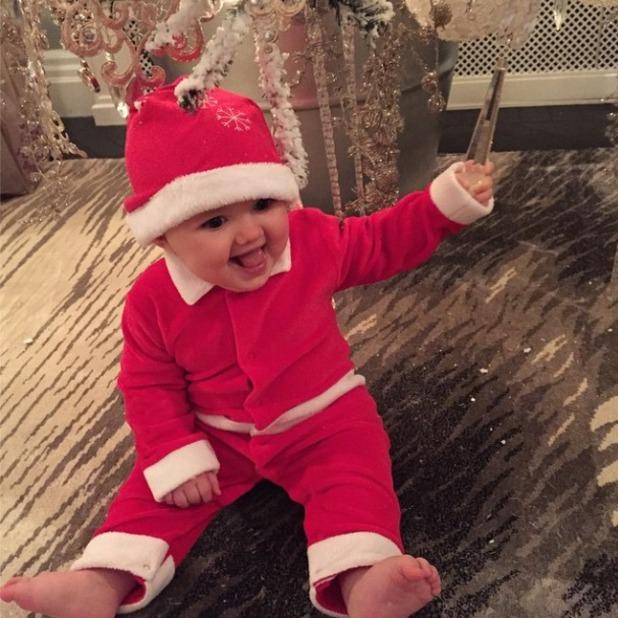 Tamara Ecclestone's daughter Sophia gets festive on Christmas Day, 2014.
