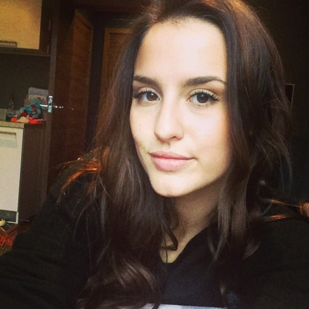 Made In Chelsea's Lucy Watson shows off new chocolate brown hair - 31 December 2013