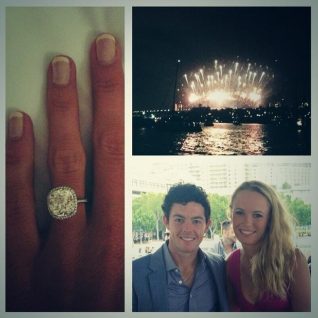 Rory McIlroy and Caroline Wozniacki announce engagement via Twitter, 31 December 2013