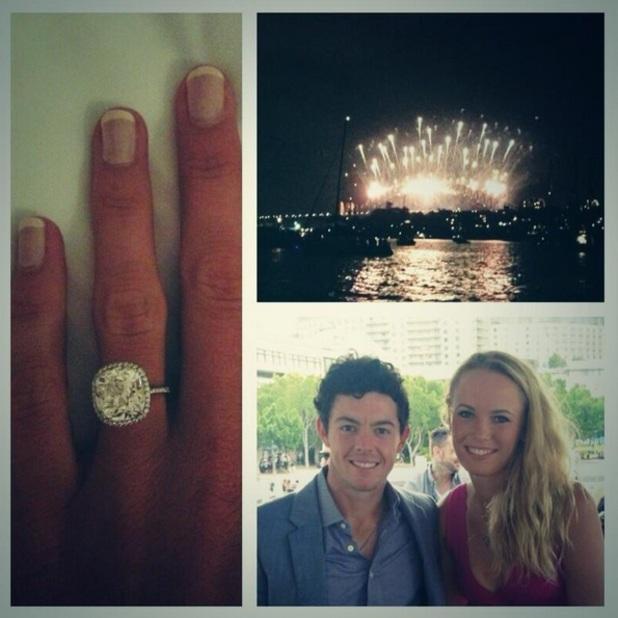 Rory McIlroy and Caroline Wozniacki announce engagement via Twitter, 31 December 2013