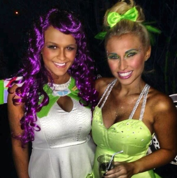 TOWIE's Billie Faiers dresses as Tinker Bell for sister Sam's Disney party - 1 January 2014