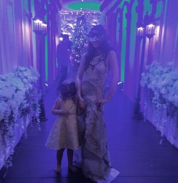 Luisa Zissman and daughter Dixie at NYE Masquerade Ball 31 December