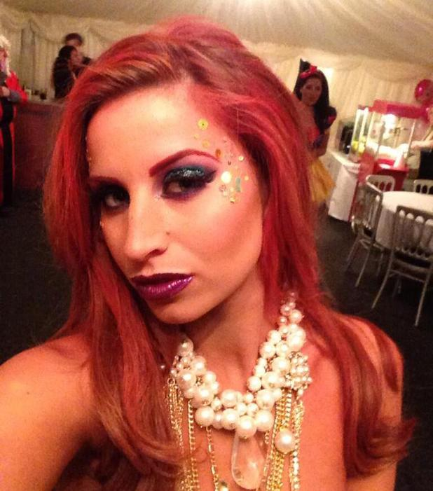 Ferne McCann's Ariel make-up for Sam Faiers' Disney-themed birthday party, 1 January 2014