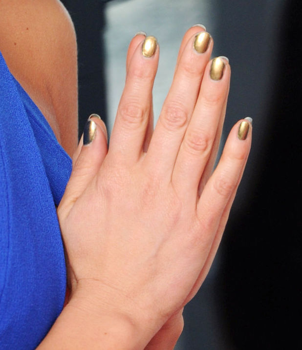 Ashley Roberts' gold nails, 'Dancing On Ice' TV show launch, London, Britain - 02 Jan 2014