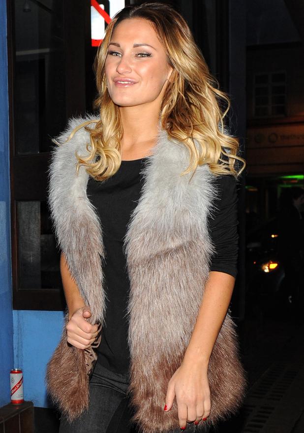 Sam Faiers walking through London's Soho - 19 December 2013