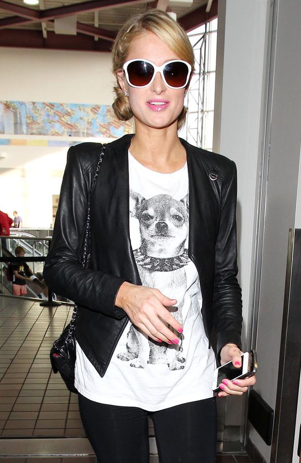 Paris Hilton arriving at LAX Airport, Los Angeles - 04 Jan 2014