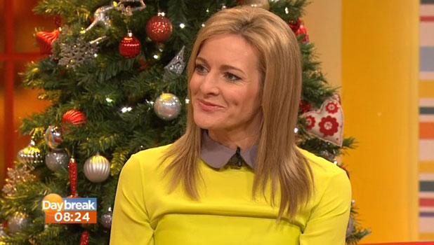 Gabby Logan appears on ITV's Daybreak, 3 January 2013