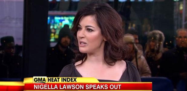 Nigella Lawson appears on Good Morning America, 2 January 2014