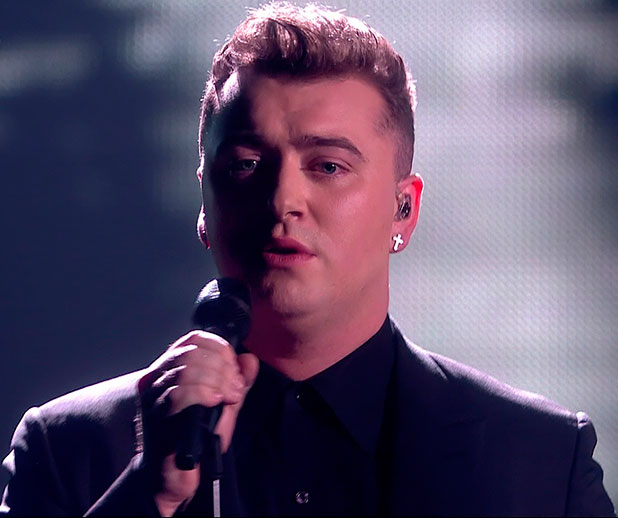 Sam Smith performing 'Stay With Me' on the final of 'The X Factor'. Shown on ITV1 HD.
