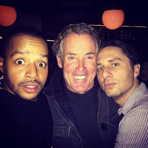 Scrubs reunion: Zach Braff, Donald Faison and John C. McGinley join for photo, 27 December 2014