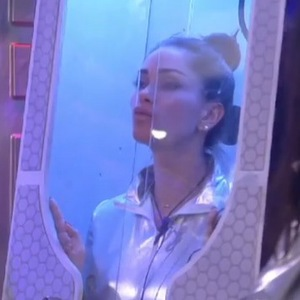 Celebrity Big Brother (6 January) Jasmine Waltz dresses as an alien during the UFO task.