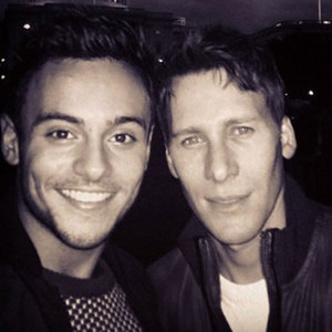 Tom Daley and Dustin Lance Black in Washington DC together just before Christmas. Tom shared this photo on Instagram on 9 January 2014.