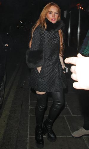 Lindsay Lohan arriving at Chakana, London - 9.1.2014