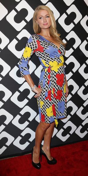 Paris Hilton attends Diane Von Furstenberg Journey of a Dress 40th Anniversary Party, Los Angeles, America - 10 Jan 2014