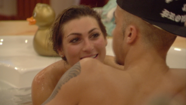 Celebrity Big Brother's Luisa Zissman licks Dappy's nipple in the bath - 6 January 2014