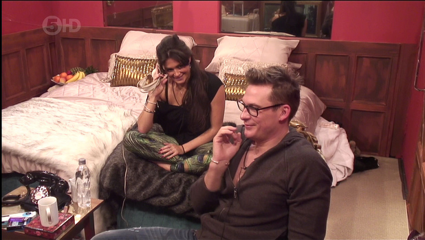 Lee Ryan and Casey Batchelor in the bolt hole during CBB, 10 January 2014