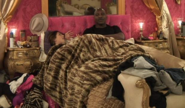 'Celebrity Big Brother' TV show, Elstree Studios, Hertfordshire, Britain - 05 Jan 2014 Evander Holyfield talks about sexuality with Luisa Zissman.
