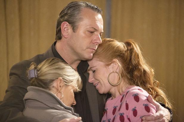 EastEnders, David comforts Carol and Bianca, Mon 13 Jan