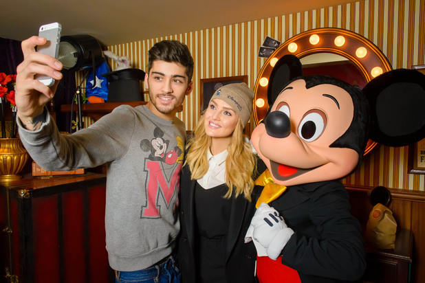Zayn Malik and Perrie Edwards visit Disneyland Paris to mark Zayn's 21st - 9 January 2014