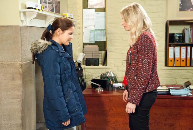 Emmerdale, Charity gives Rachel an ultimatum, Tue 14 Jan