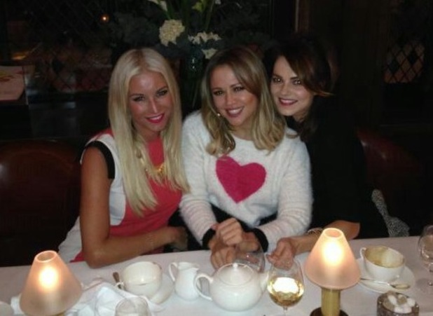 Kimberley Walsh joins Denise Van Outen and Kara Tointon for dinner to discuss new secret project - 9 January 2014