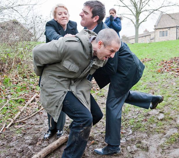 Emmerdale, Sam is arrested, Mon 13 Jan