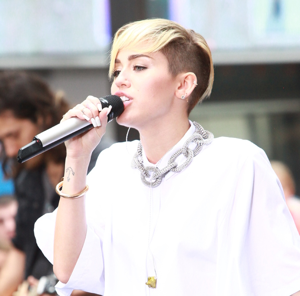 Miley Cyrus performs on the 'Today' show as part of their NBC Toyota Concert Series in Rockefeller Center, 7 October 2013