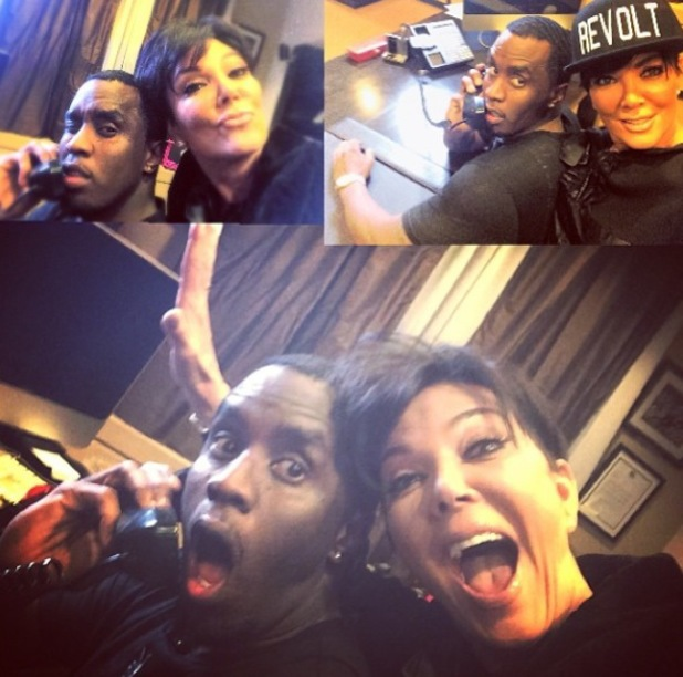 Kris Jenner hangs out with Diddy - 8.1.2014