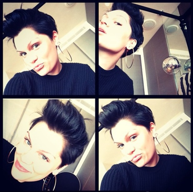 Jessie J shows off her Elvis quiff, January 2013