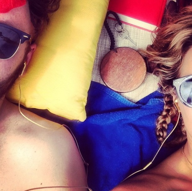 Caroline Flack enjoys romantic holiday with boyfriend Jack Street. (5 January 2014).