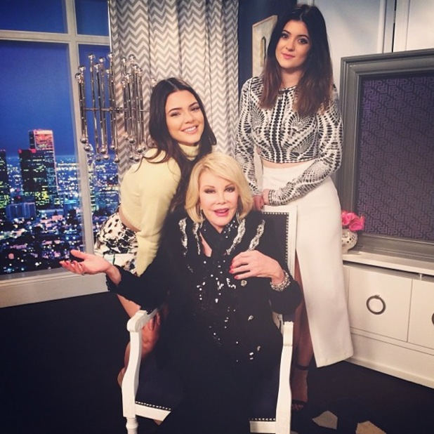 Kendall Jenner appears on Fashion Police with Joan Rivers and Kylie Jenner, Los Angeles - 9 January 2014