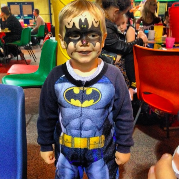 Danielle Lloyd shares cute picture of her son Archie dressed as Batman, 12 January 2014