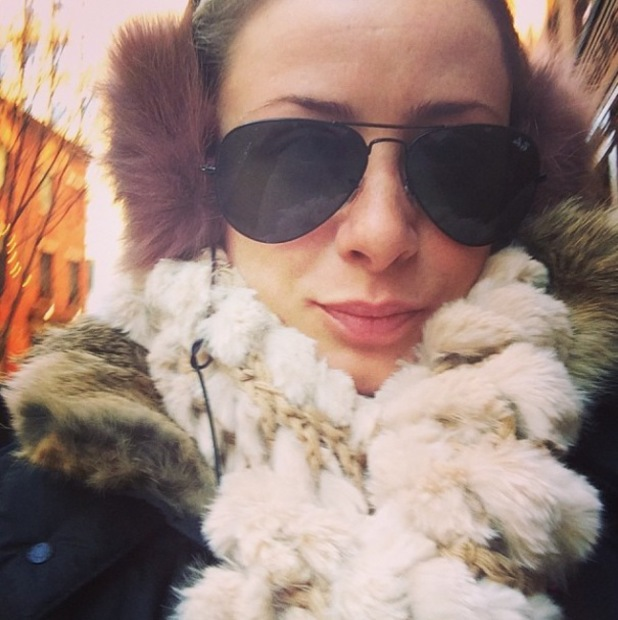 Lo Bosworth from The Hills braves the polar vortex - 8 January 2014