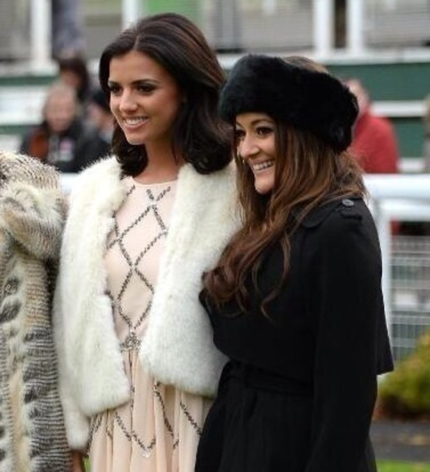 Natalie Panayi at Sandown Park with Lucy Mecklenbugh and Chantelle Houghton - December 2013