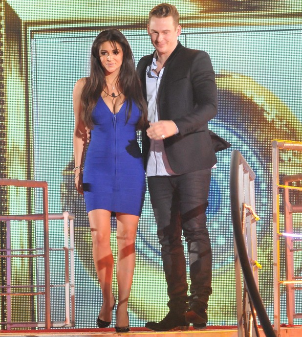 Celebrity Big Brother - January 2014 - Lee Ryan and Casey Batchelor get 'evicted' during the fake eviction.