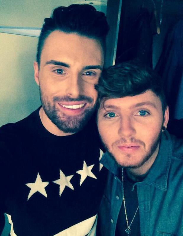 Rylan Clark hangs out with James Arthur at his gig in Southend.