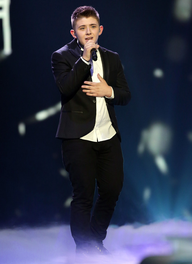 'The X Factor' final TV show, Wembley Arena, London, Britain - 15 Dec 2013 Nicholas McDonald