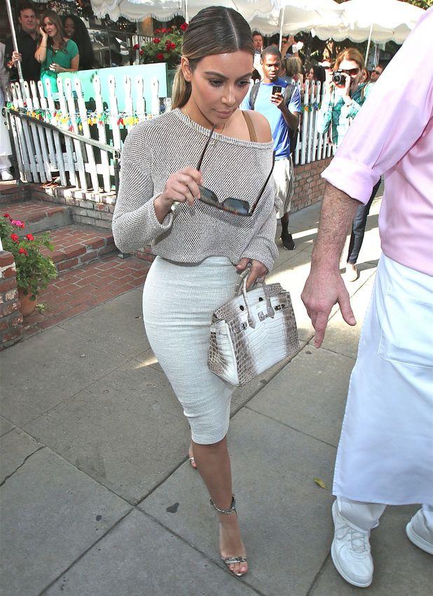 Kim Kardashian departs The Ivy in LA, 11 January 2014