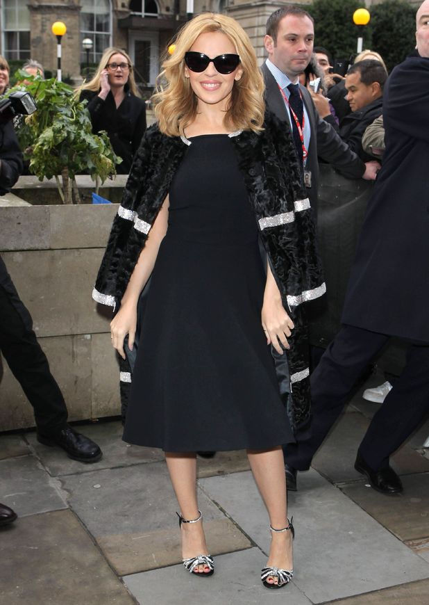 Kylie Minogue at BBC Broadcasting House ahead of The Voice UK launch - London, Britain - 06 Jan 2014