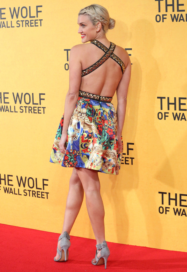 Ashley Roberts at the Wolf of Wall Street premiere in Leicester Square, London - 9 January 2014