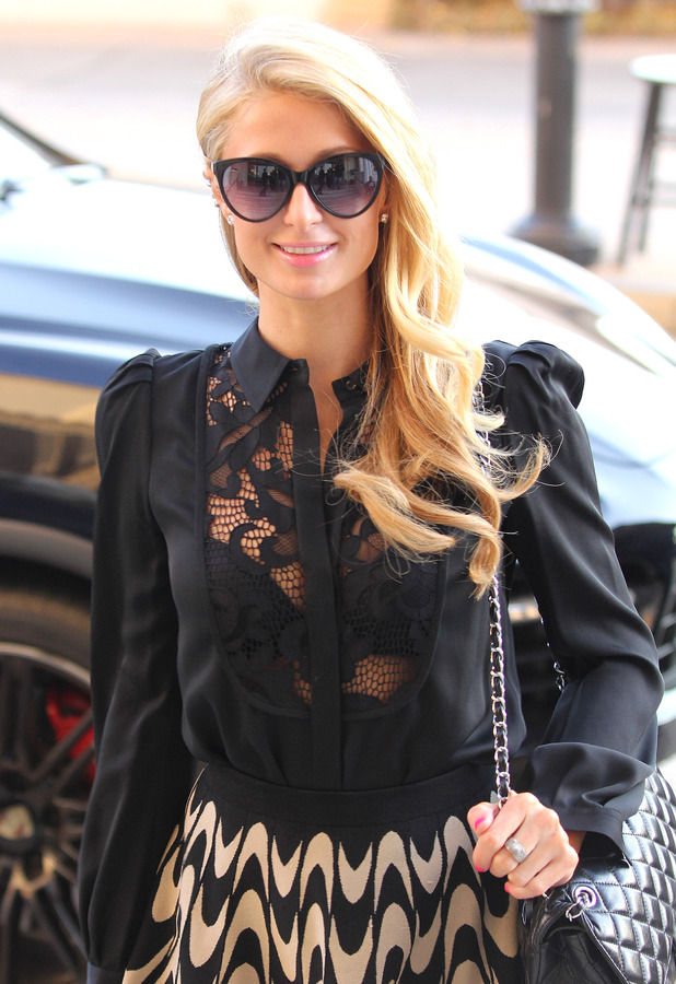 Paris Hilton shops at Barneys of New York in Los Angeles - 9 January 2014