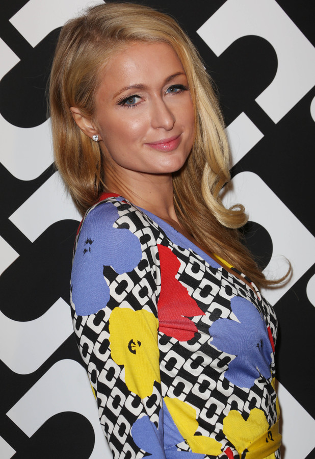 Paris Hilton attends Diane Von Furstenberg Journey of a Dress 40th Anniversary Party, Los Angeles, America - 10 Jan 2014