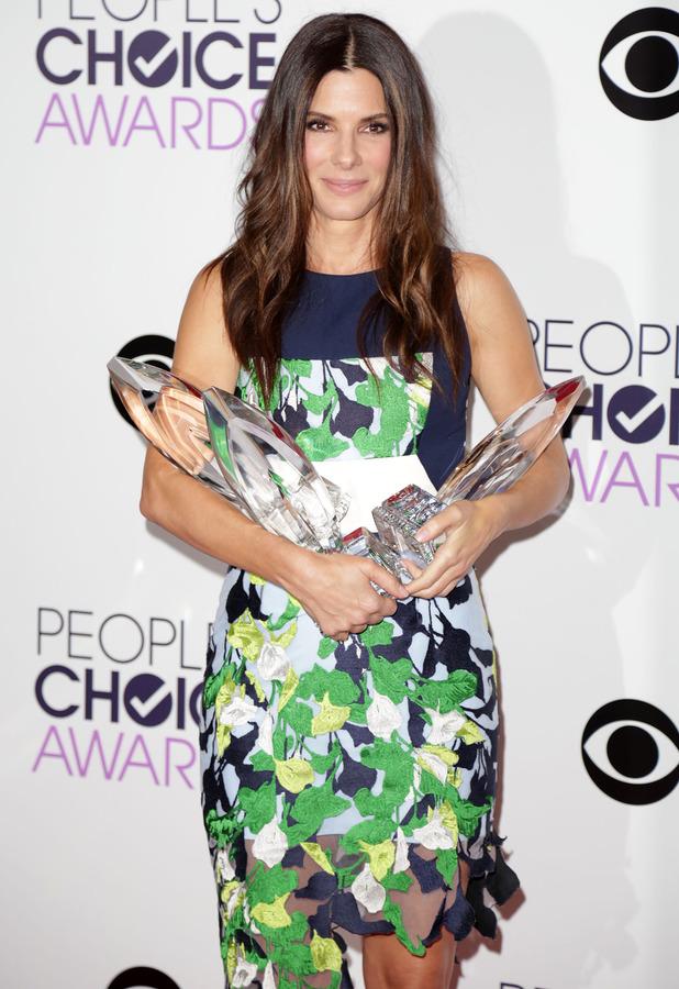 Sandra Bullock at the People's Choice Awards in Los Angeles, 8 January 2014