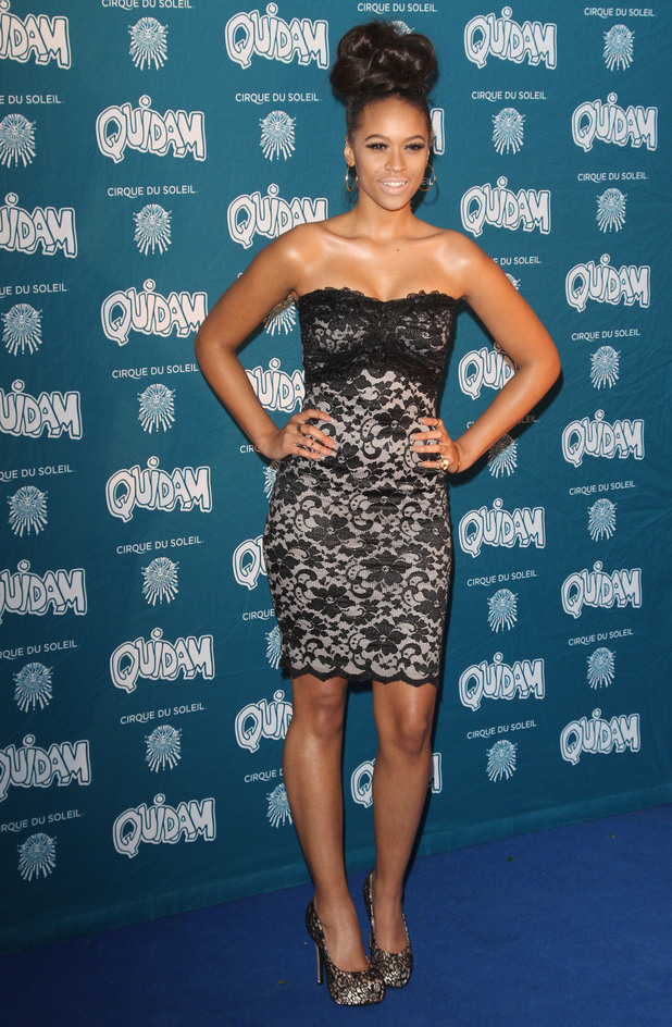 Former X Factor contestant Tamera Foster at the Cirque du Soleil 30th anniversary performance of Quidam held at the Royal Albert Hall. 7/01/2014