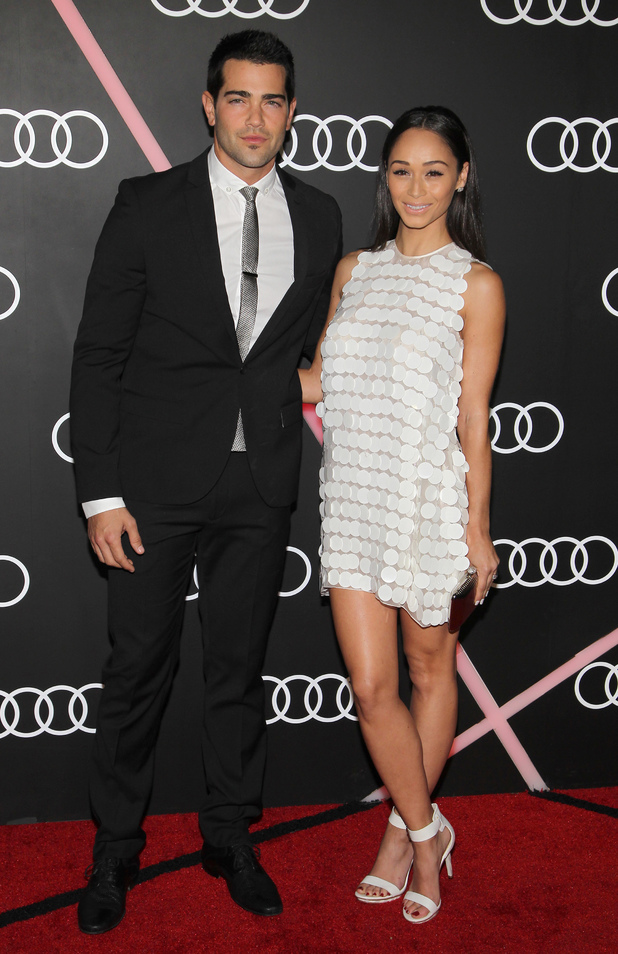 Jesse Metcalfe and Cara Santana at the Audi celebrates Golden Globes event held at Cecconi's restaurant 01/10/2014 Los Angeles, California, United States