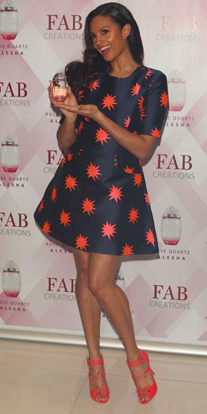 Alesha Dixon launches her first fragrance 'Alesha Rose Quartz' at The Studios, St Martins Lane Hotel, 8 January 2014