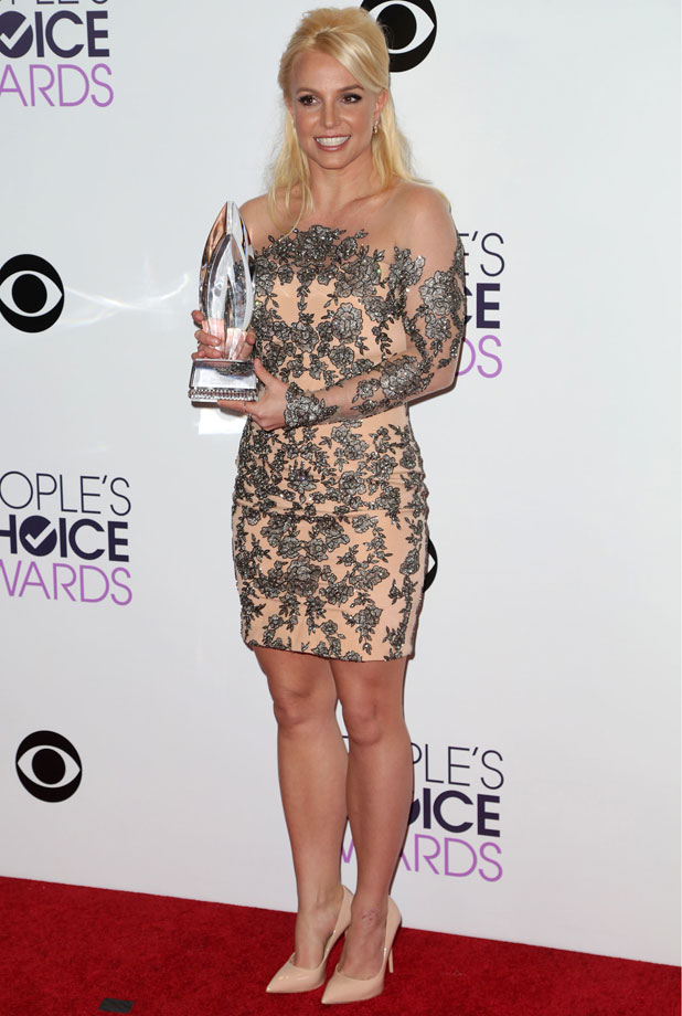 Britney Spears at the People's Choice Awards 2014 where she won the Favourite Pop Star Award, 8 January 2014