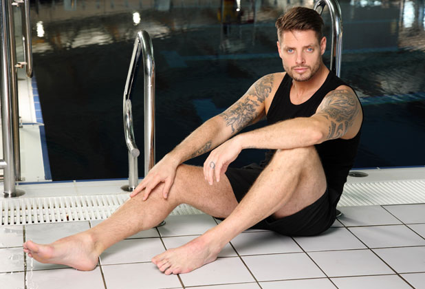 Keith Duffy on the second heat of Splash, publicity picture 2014